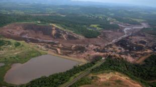 Rupture du barrage minier du groupe Vale à Brumadinho, commune de 39 000 habitants située à 60 km au sud-ouest de Belo Horizonte, capitale du Minas Gerais, le 25 janvier 2019.