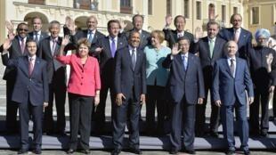 Les leaders du G20, dont ceux des plus puissants pays émergents, lors d'un sommet à Mexico en 2013.