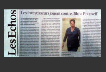 O diário econômico Les Echos publica reportagem sobre o ano eleitoral no Brasil. 22 de abril de 2014.