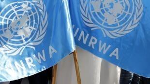 ទង់តំណាងទីភ្នាក់ងារអង្គការសហប្រជាជាតិទទួលបន្ទុកជនភៀសខ្លួនប៉ាឡេស្ទីន UNRWA