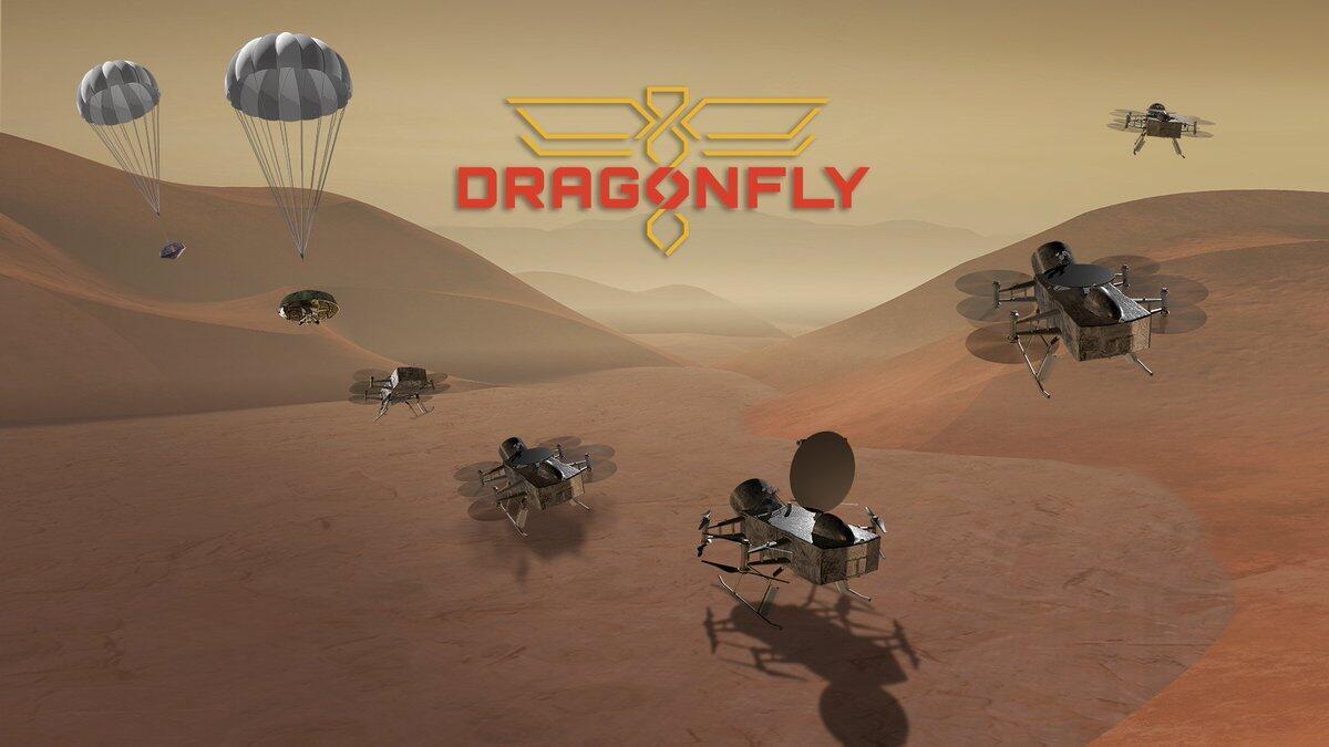 Ilustración de la misión Dragonfly.