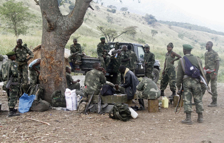 Askari wa FARDC mashariki mwa DRC, Februari 27, 2015.
