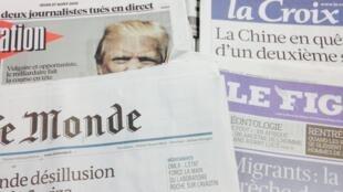 Primeira páginas dos diários franceses de 27/08/2015