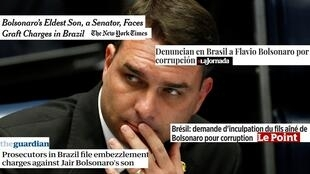 Flavio Bolsonaro Montagem presse