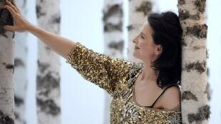 "Juliette Binoche em ""Senhorita Julia"",  de August Strindberg, no Festival de Avignon."