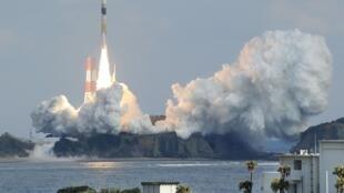 Tên lửa H2A đưa thành công vệ tinh gián điệp lên quỹ đạo. Ảnh chụp ngày 01/02/2015.