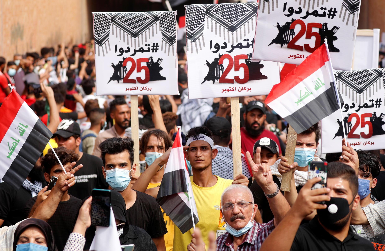 2020-10-25T110854Z_897685536_RC2NPJ9Q65BL_RTRMADP_3_IRAQ-PROTESTS-ANNIVERSARY