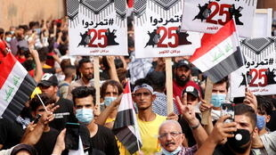 2020-10-25T110854Z_897685536_RC2NPJ9Q65BL_RTRMADP_3_IRAQ-PROTESTS-ANNIVERSARY
