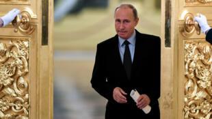 Президент России и кандитат на собственное переизбрание Владимир Путин