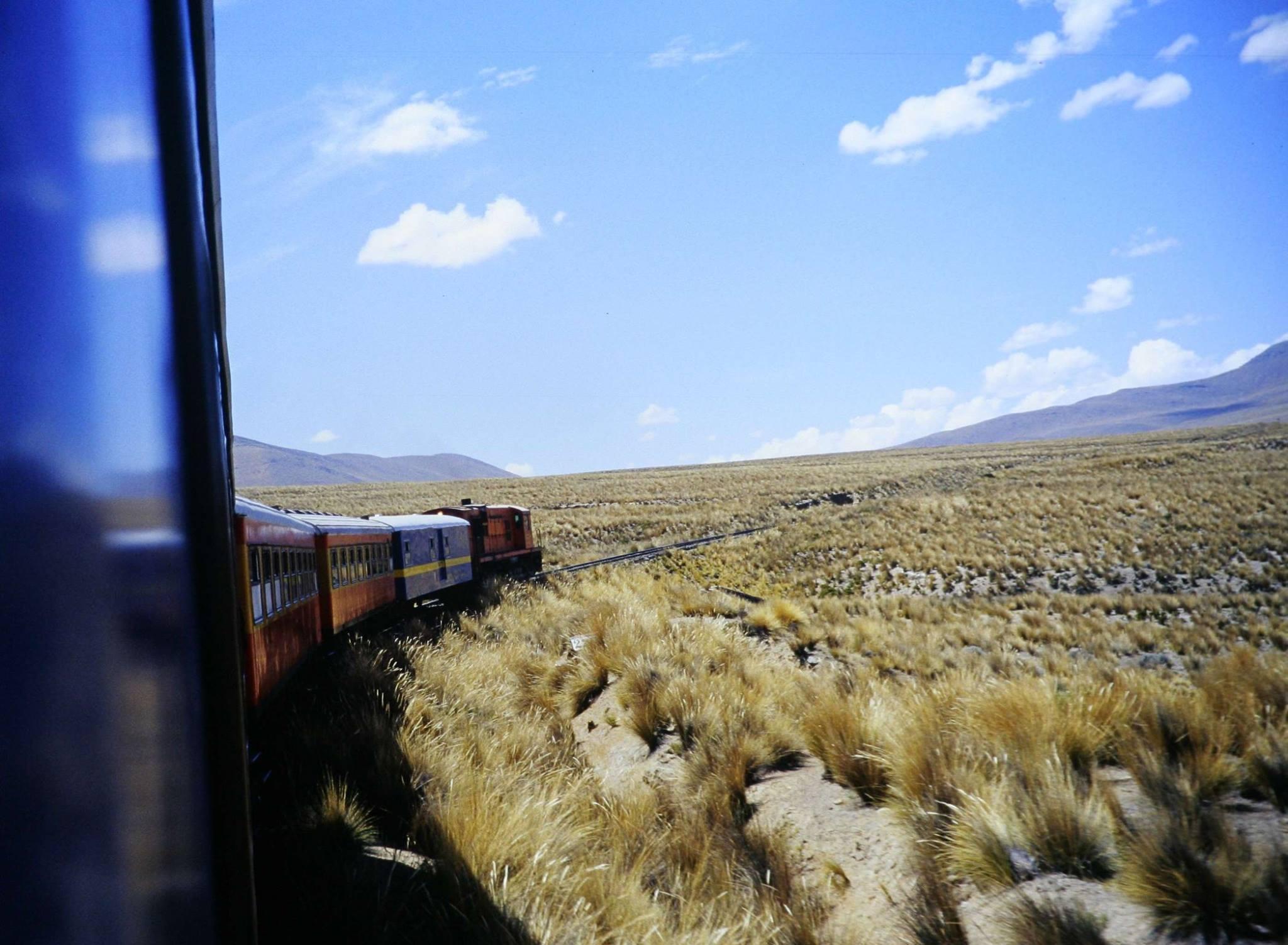 Slow travel de trem pela América do Sul.