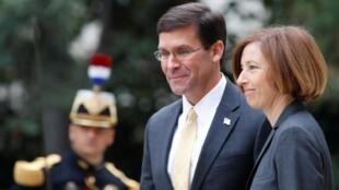 Bộ trưởng Quân Lực Pháp bà F. Parly tiếp đồng nhiệm Mỹ, M.Esper tại Paris ngày 07/09/2019.