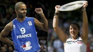 """Tony Parker e Marion Bartoli foram escolhidos como os """"campeões dos campeões de 2013"""" na França, para o jornal L'Équipe."""