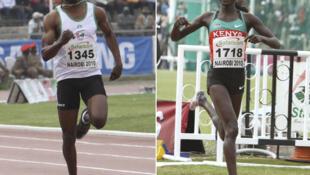 L'Ivoirien Ben Youssef Meite (à gauche) et la Kenyane Vivian Cheruiyot.