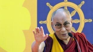 达赖喇嘛在印度Guwahati城 2014. 2 .2