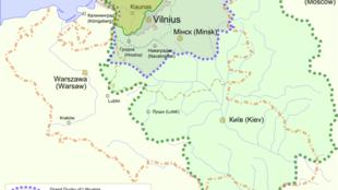 Vị trí địa lý của Litva.