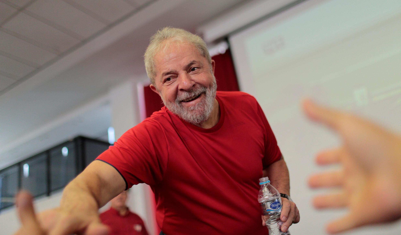 O ex-presidente Lula durante uma visita ao sindicato dos metalúrgicos de São Bernardo do Campo