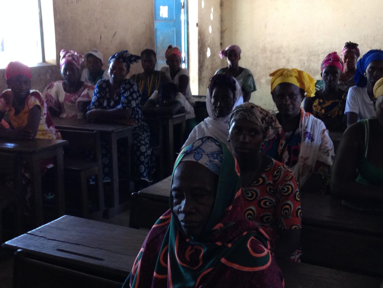 Mulheres de Bricama, localidade de Bafata, no interior da Guiné-Bissau.