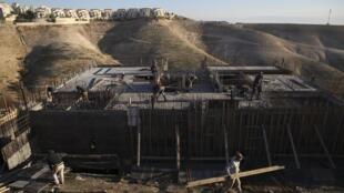 Un logement en construction en Cisjordanie (image d'illustration).