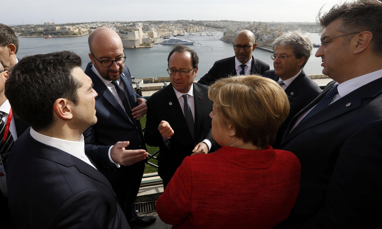 Лидеры стран-членов ЕС на саммите в Мальте, 3 февраля 2017.