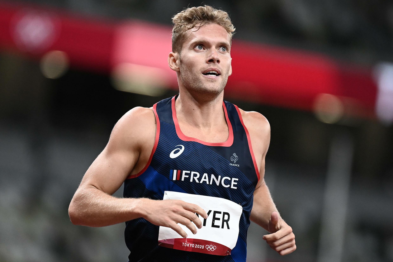 Kevin Mayer à l'arrivée du 400 m du décathlon des JO de Tokyo, le 4 août 2021