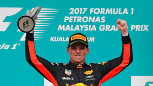 Max Verstappen started the Malaysian Grand Prix in third place on the grid.