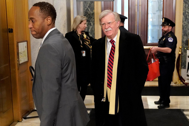 Ông John Bolton, cố vấn an ninh quốc gia của tổng thống Mỹ, đến họp ở Nghị Viện Mỹ, Washington, ngày 06/03/2019.