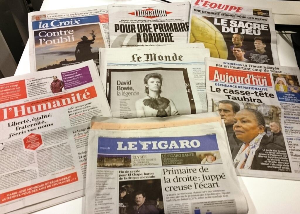 Diários franceses 11/01/2016