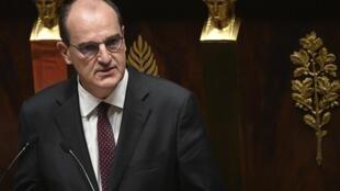 Le Premier ministre Jean Castex lors de la présentation de son programme à l'Assemblée nationale, le 15 juillet 2020.