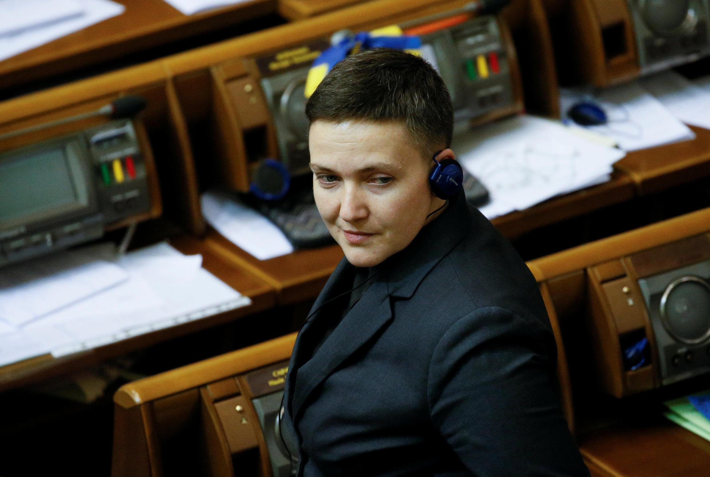 Надежда Савченко на заседании Верховной Рады, 15 марта 2018.