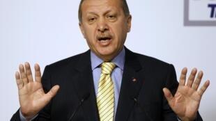 Le Premier ministre turc Recep Tayyip Erdogan à Istanbul, le 24 mars 2011.