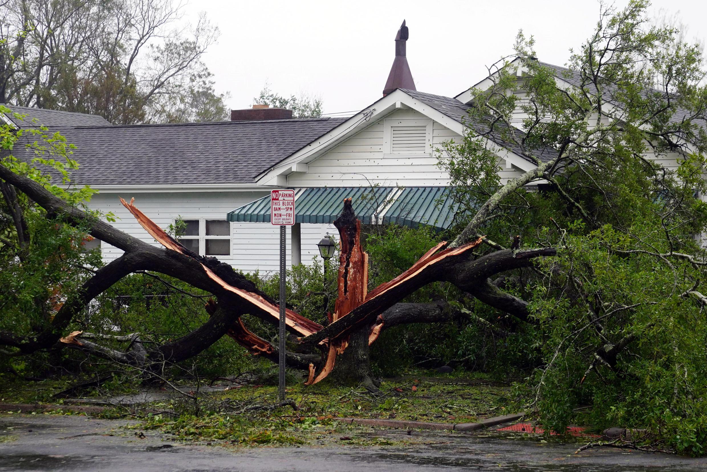 Wilmington en Carolina del Norte, EE.UU., el 14 de septiembre de 2018, tras el paso del huracán Florence.
