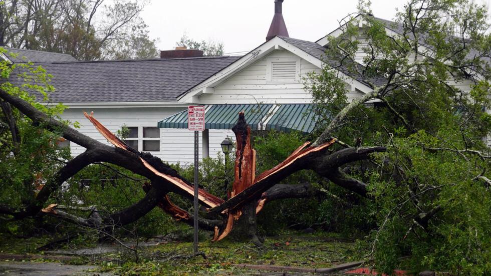 Willmington en Carolina del Norte después del paso del huracán Florence.