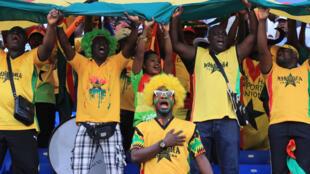 Mashabiki wa timu ya taifa ya Ghana katika michuano ya Afcon 2017.