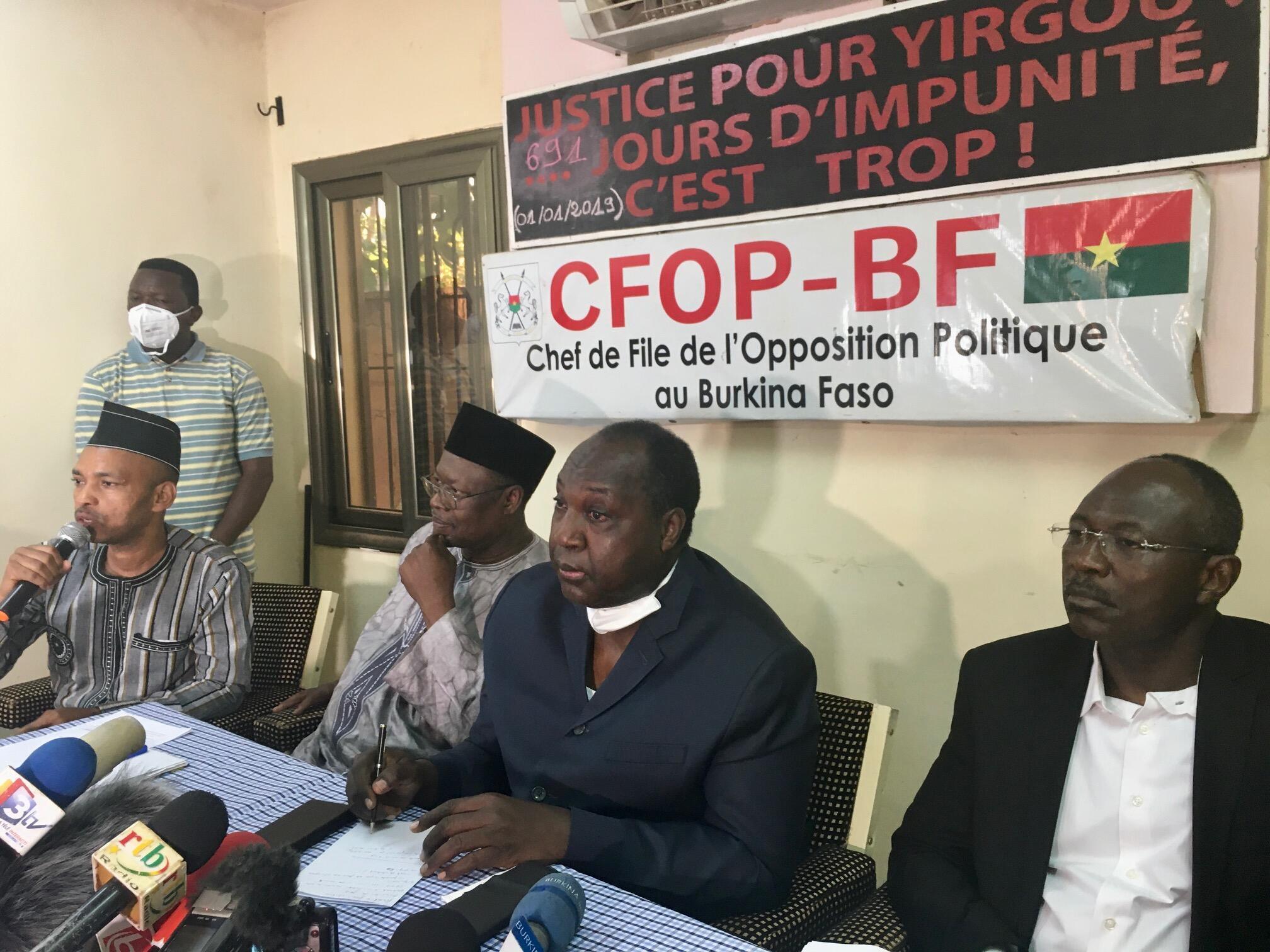 IMAGE BURKINA FASO Candidats Opposition 23/11/2020