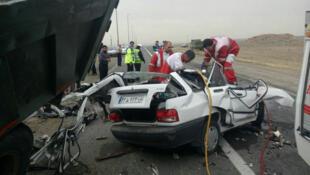 در ایران، سوانح رانندگی سومین عامل مرگ و میر است