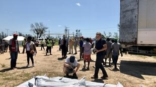 Campo de acolhimento no Bairro Samora Machel, Dondo, Moçambique