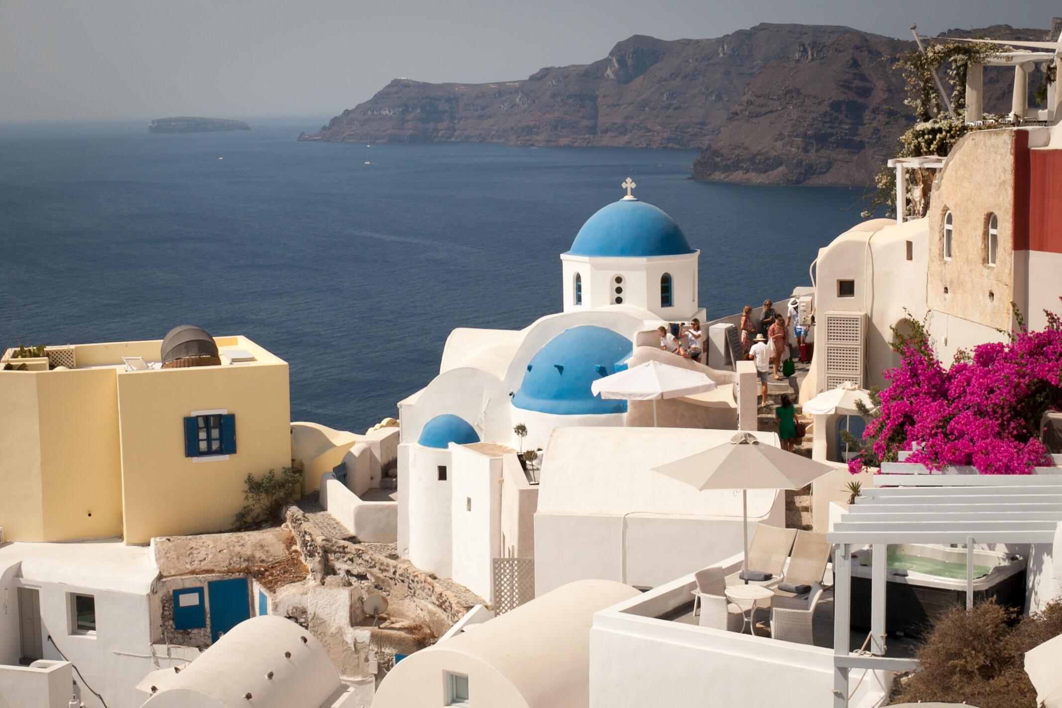 « Đảo ngọc » Santorini, Hy Lạp, tháng 08/2021.