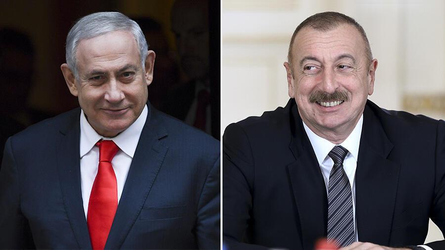 Benjamin Netanyahu - Ilham Aliyev AFP
