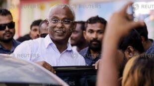 馬爾代夫民主黨候選人薩利赫贏得選舉勝利。2018-09-24