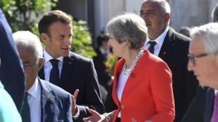 英国首相梅在奥地利萨尔茨堡非正式会议上   2018年9月20日
