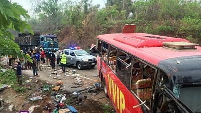 Accident de deux bus au Sud-Est du Ghana, 221 Sept 2019