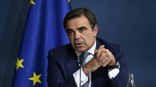 Le commissaire grec Margaritis Schinas, à Berlin, le 28 septembre 2020.