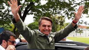 ژئیر بولسونارو، ریاست جمهوری برگزیدۀ برزیل، پس ار اعلام نتایج انتخابات – ٢٨ اکتبر ٢٠١٨
