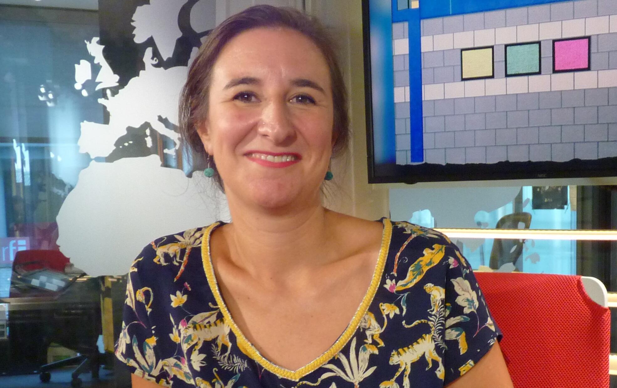 María Saravia en los estudios de RFI