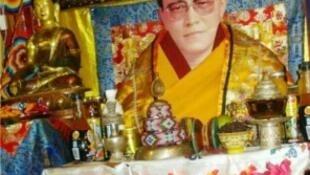 藏人精神領袖丹增德勒生前照片