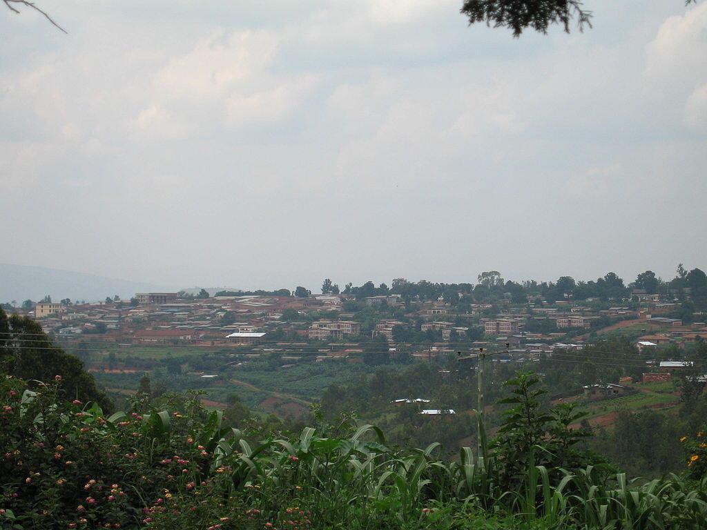 Vue de Gitega, la nouvelle capitale du Burundi, où se tient le procès Melchior Ndadaye.