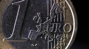 Une pièce de un euro.