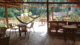 Vista del comedor del Inti-Eco-Lodge.
