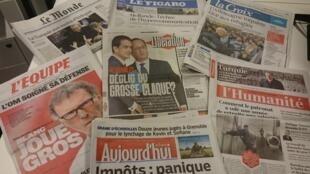 Diários franceses 02/11/2015