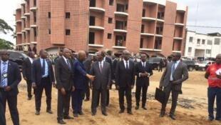 Ziara ya Rais Alassane Ouatarra kwenye eneo la mafuriko huko Abidjan.